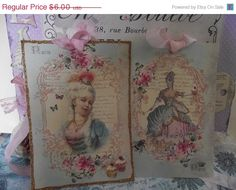 SALE Shabby Chic French Gift Card  Card Queen by ShoppeLaFluer