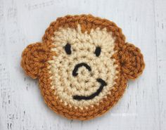 Here is Day 13 of my 26 Days of Crochet Animal Alphabet Appliques!M is for Monkey Im bananas...
