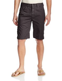 prAna Living Men's Bronson 11-Inch Inseam Shorts, Charcoal, 36:   The durable and stretchy Bronson is an all purpose adventurer's dream come true. Casual everyday styling hides triple stitching and reinforced details intended to hold up to heavy duty action. A full inseam gusset and touch of spandex are added to organic cotton to provide the range of motion you need for veering off the trail and up the nearest rock.
