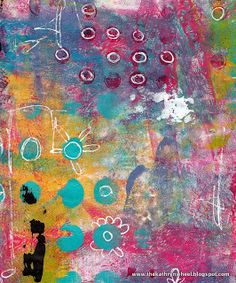 Printing with gelli - The Kathryn Wheel