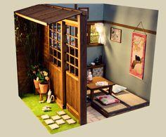 tea room diarama
