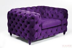 Purple chair to match. Purple Rain, Deep Purple, Purple Furniture, Funky Furniture, Salons Violet, All Things Purple, Purple Stuff, Purple Home, Purple Velvet