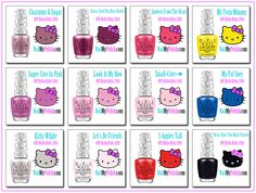 OPI Hello Kitty Collection 2016. www.nailmypolish.com