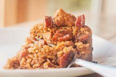 Cajun Jambalaya with Chicken, Sausage & Ham - Aunt Bee's Recipes Cajun Chicken Salad, Chicken And Sausage Jambalaya, Chicken Salad Recipes, Liver Recipes, My Recipes, Donut Recipes, Tapas, New Orleans Recipes, Haitian Food Recipes