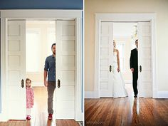 Dad Recreates Wedding Photos with His Daughter in Memory of His Late Wife