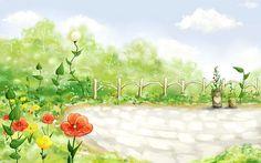 Spring Fairyland - Spring Scene Art Illistration  - Spring Fiaryland - Fantasy Spring Illustration Wallpaper 1920*1200 6 doll background