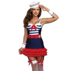 2020 Dreamgirl Women's Sailor's Delight Sea Captain Costume and more Career Costumes for Women, Sailor Costumes for Women, Women's Halloween Costumes for Sexy Army Costume, Sexy Adult Costumes, Nurse Costume, Costumes For Women, Devil Costume, Costume Dress, Army Halloween Costumes, Army Girl Costumes, Sailor Costumes