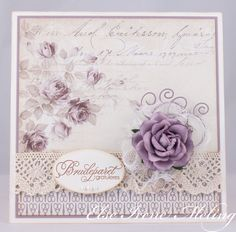 Wild Orchid Crafts: A wedding card.