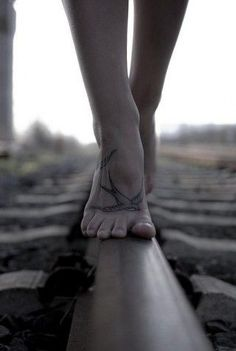 This picture says freedom. But I want a tattoo on my foot.