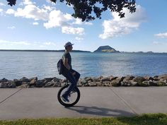 Unicycling to work. The ultimate commute? Last Mile, Bail Out, Bicycle Bell, Unicycle, Cycling Helmet, Mode Of Transport, Touring, Sweet, Outdoor