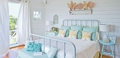 I have my mother's old iron bed...this is a great idea!