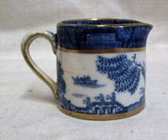 Vintage Small 1.5 Booths Real Old Willow Cream Jug