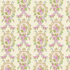 Cream Victorian Cameo Wallpaper 430 x 600mm - A cuddle with Jasper - Dolls' House Bedrooms - Dolls' House Room Displays - Dolls House Emporium
