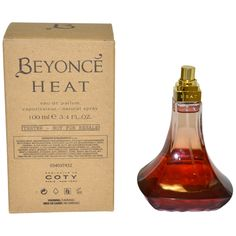 Beyonce Heat - https://www.perfumes.com/beyonce-heat-beyonce-women-3-4-oz-2/ - Launched by the design house of Beyonce in the year 2010. This vanilla oriental fragrance has a blend of red vanilla orchid, magnolia, neroli, peach, honeysuckle, almond, musky cream, sequoia wood, tonka, and amber notes.