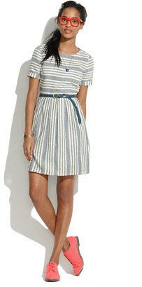 Stucco stripe dress Madewell...have to make my own because Madewell's are too short.