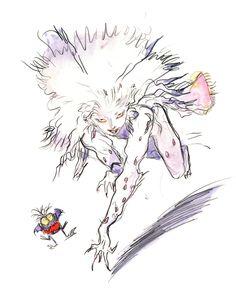 Final Fantasy VI - Terra [Esper] Concept Art - Yoshitaka Amano