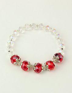 9efe55d6aa8c Las 46 mejores imágenes de Pulseras cristal | Beaded Jewelry ...