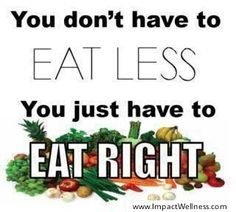 Are You Eating Right and Not Less?
