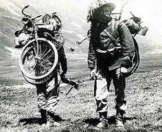 Italian bicycle troops during World War I.