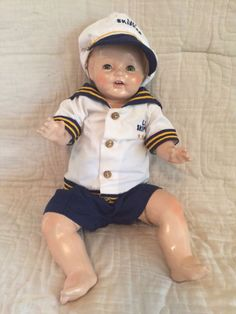 Antique 1920's Composition/Cloth Amberg Sleepy Eyes Vanta Baby Boy Doll | Dolls & Bears, Dolls, Antique (Pre-1930) | eBay!