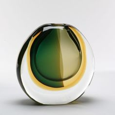 Multi Sommerso Murano Glass Vase by Luigi Onesto