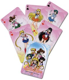 Sailormoon Playing Cards - Officially Licensed Great Eastern Product - FREE SHIPPING IN THE USA All orders will be packaged and shipped within 1-2 business days once payment has cleared excluding week