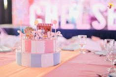 Chelsea's Sweet Shoppe Themed Party – Table Setup Something Sweet, Birthday Candles, Party Themes, Cravings, Chelsea, Ice Cream, Candy, Table Decorations, No Churn Ice Cream