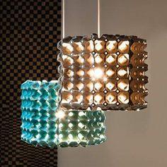 ¿Que tal una lámpara con la huevera?  I ♥ #Dialhogar  http://pinterest.com/dialhogar/  http://dialhogar.blogspot.com.es/