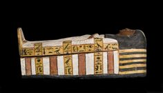 An anthropoid wooden coffin, plastered and painted, of a child, Tairtsekher, daughter of Irtnefret: Ancient Egyptian, Upper Egypt, possibly from Deir el-Medina, New Kingdom, early 19th Dynasty, c. 1292-1200 BC