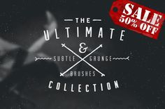 100 Brushes Ultimate Collection 50% by DavidLarusso on @creativemarket