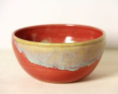 Beautiful Ceramic Bowl - Caramel Apple from Mudamorphis Etsy. What a shame they don't ship to Australia.