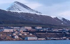 The mining outpost of Barentsburg, shown September on Norway& remote Svalbard islands. The Soviet Union (later Russia) has been operating the mines here since Currently it is home to around 500 residents, almost entirely Russian and Ukrainian. Svalbard Norway, North Pole, Archipelago, Remote, Soviet Union, Adventure, Landscape, Travel, Rice