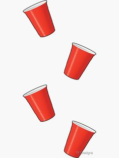 'Solo Cup Pattern' Sticker by W Designs Shot Ski, Red Solo Cup, Beer Pong Tables, Table Designs, Aesthetic Stickers, Sticker Design, Glossier Stickers, Wands, Finding Yourself