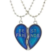 Magnetic Best Friend Mood Changing Pendant Necklaces