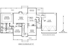 House Plan 3417-A The BROOKHAVEN A floor plan