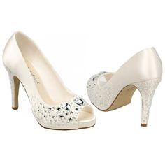 #LosZapatosdetuBoda #GWesterleigh  Zapatos de Novia Peep Toe modelo Victoria de G. Westerleigh