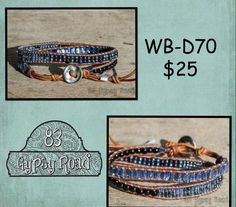 WB-D70 beaded double wrap bracelet - Blue Chill cocktail seed bead mix by 83GypsyRoad on Etsy