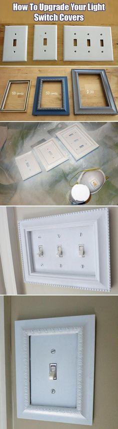 An easy upgrade that makes your home look more expensive... Picture frames fit…