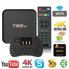 WISEWO Android TV Box (Amlogic S905X HD 4K Quad Core CPU ) with Wireless Keyboard