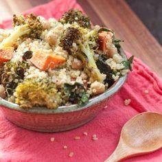 Roasted Broccoli & Kale Quinoa Salad