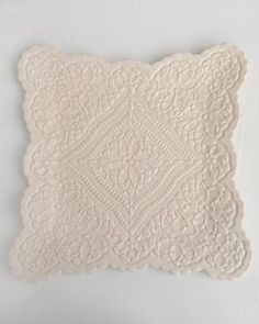 Arcadia Square Plate - ANTIQUE WHITE Visit http://www.LacePottery.com