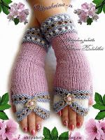 Crochet Patterns Mittens Tina's handicraft : 10 designs for gloves Crochet Mittens, Crochet Gloves, Crochet Lace, Crochet Books, Crochet Stitch, Blanket Crochet, Crochet Bikini, Knitting Stitches, Baby Knitting