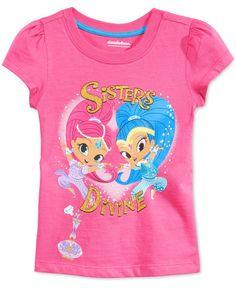 Nannette Toddler Girls' Shimmer and Shine Sisters Divine T-Shirt