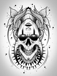 Skull Tattoo Design, Tattoo Design Drawings, Skull Tattoos, Hand Tattoos, Sleeve Tattoos, Tattoo Sketch Art, Dark Art Drawings, Art Drawings Sketches, Dark Art Tattoo