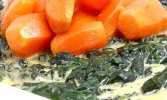 Receta de Zanahorias con espinacas a la crema