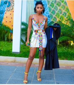 People from all over the world are fast embracing the African TRENDY XHOSA ATTIRE fabrics andthe designers truly deserve some accolades African Fashion Ankara, African Inspired Fashion, Latest African Fashion Dresses, African Print Fashion, African Wear, African Attire, African Dress, African Clothes, Zulu Traditional Wedding Dresses
