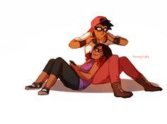 """Alya and Nino  turning-the-tides: """" doodled em cuz i love them ᕕ( ᐛ )ᕗ """""""