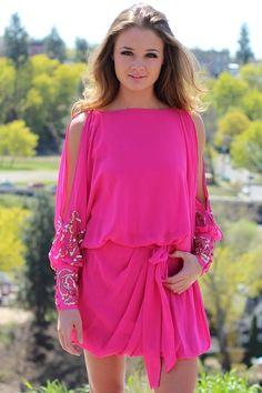 ISN'T SHE LOVELY PINK SEQUIN DRESS $58.00