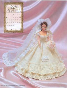 Barbie Crochê Miniaturas e Coisas Mais - De Tudo Um Pouco e Muito Mais: Aprenda a Fazer Um Lindo Vestido de Noiva de Crochê Para Barbie de Annie Potter