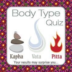 Ayurveda Body Type Quiz. I am predominately Vata:  Vata 28 Pitta 15 Kapha 8